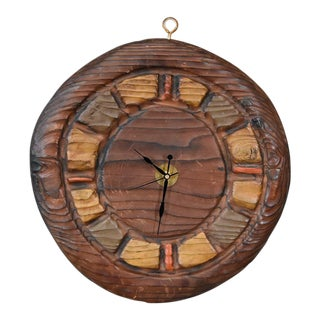 Witco Carved Wood Clock