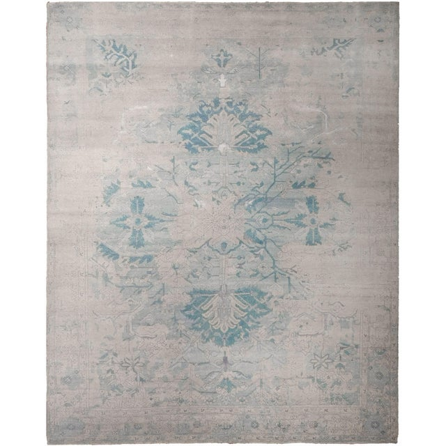 Erased Hand-Knotted Luxury Rug - 8′ × 10′ - Image 1 of 8