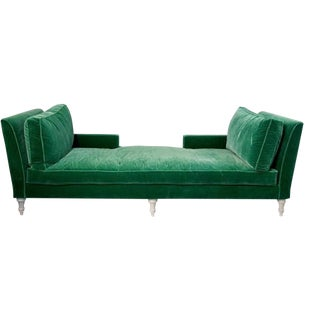 Green Tete-A-Tete Summer Daybed in Velvet For Sale