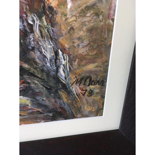 1970s Vintage Abstract Mathias Barz Original Oil Painting For Sale - Image 4 of 13