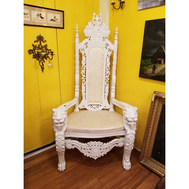 19th Century Antique Lion Chair For Sale - Image 11 of 11