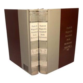 1985 Funk & Wagnalls Standard Desk Dictionary Volume 1 -2 For Sale