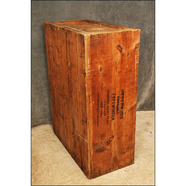 Vintage Industrial Wood Bookcase made from Underwood Typewriter Crates For Sale - Image 10 of 11