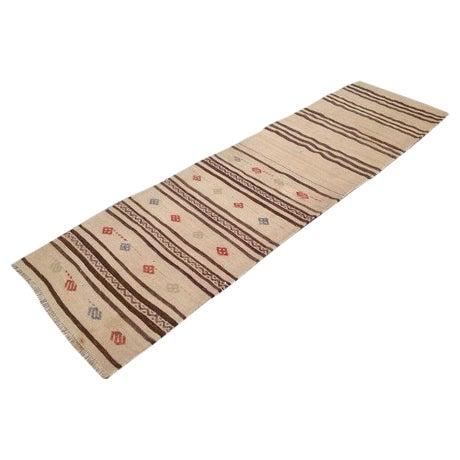 "Vintage Striped Kilim Runner - 2'1"" X 7'6"" - Image 1 of 5"