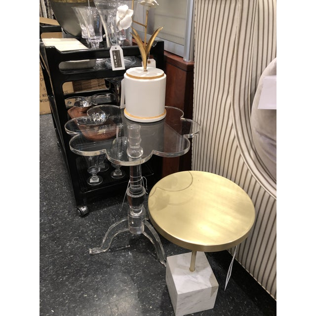 Acrylic Chelsea House Mt Pleasant Arcylic Side Table For Sale - Image 7 of 8