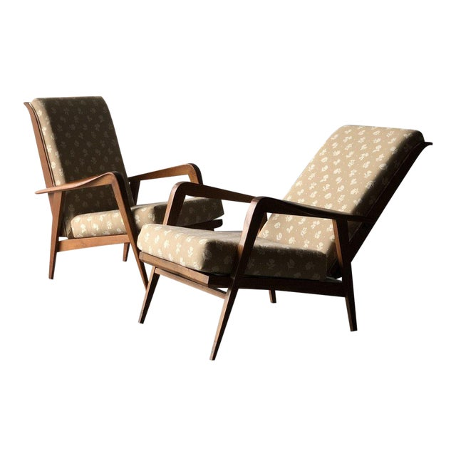 Mid-Century Reclining Chairs - A Pair For Sale