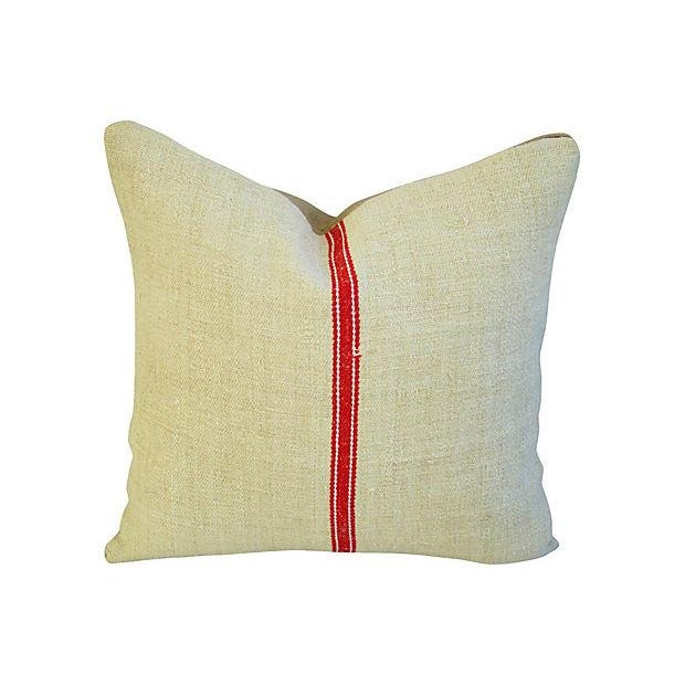 Vintage European Textile & Linen Pillows- A Pair - Image 3 of 6