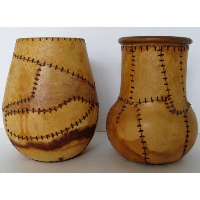 Brazilian Artisan Vases - A Pair - Image 3 of 6