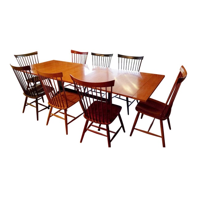Ethan Allen Dining Room Sets For Sale: Ethan Allen Country Colors Dining Set With Table And 8 Fan