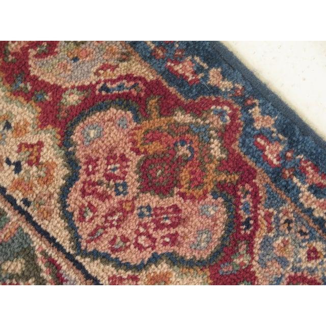 1980s Vintage Karastan Kirman Panel Throw Rug- 2′11″ × 6′ For Sale - Image 5 of 9