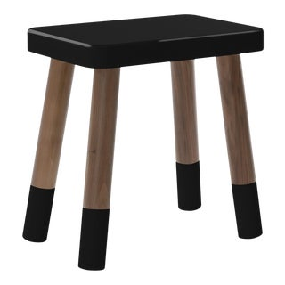 Tippy Toe Kids Chair in Walnut and Black Finish For Sale