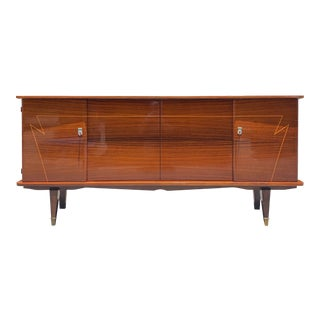 1940s Art Deco Macassar Ebony Sideboard/Credenza For Sale