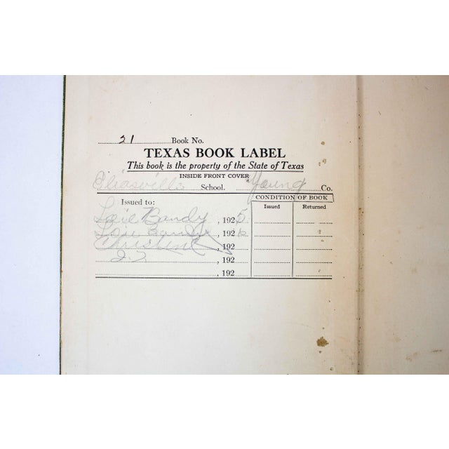 1920s Antique Green and Gold Schoolbook For Sale - Image 5 of 11