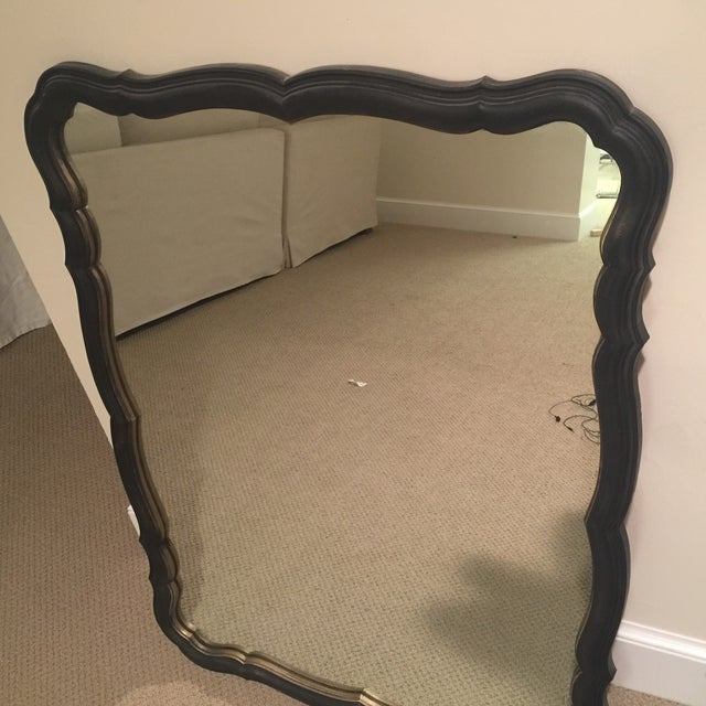 Traditional Black and Gold Scalloped Mirror - Image 8 of 11