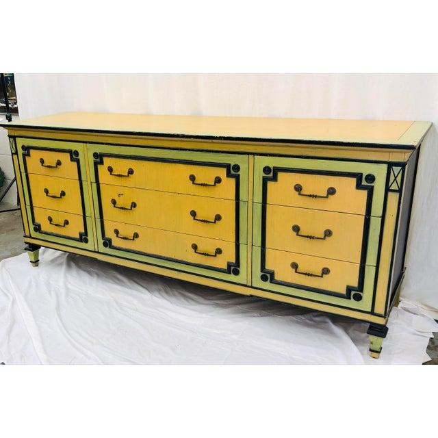 Boho Chic Vintage Painted Credenza Dresser For Sale - Image 3 of 12