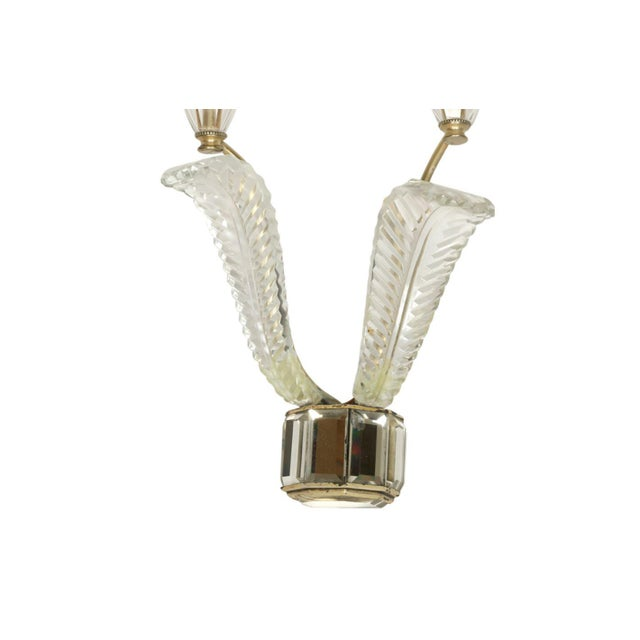 Art Deco Pair of Deco Crystal Two Arm Jansen Sconces For Sale - Image 3 of 5