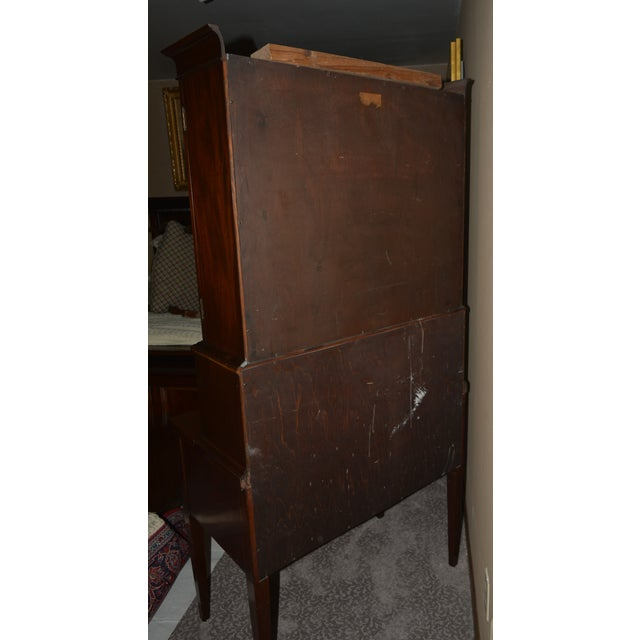 Antique Federal Style Mahogany Secretary For Sale - Image 4 of 12