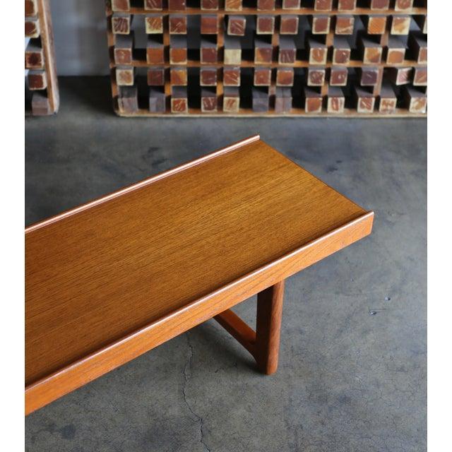 """Bruksbo 1960s Vintage Teak """"Krobo'' Bench by Torbjørn Afdal for Bruksbo For Sale - Image 4 of 11"""