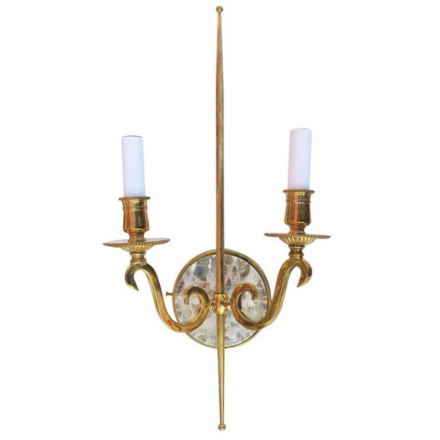High Style Double Arm Wall Sconce with Solid Brass and Rock Crystal Stone - Image 2 of 7