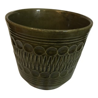 20th Century Modern Bay Keramic Art Pottery Green Planter