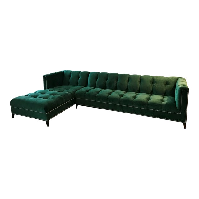 Ambella Dashing Sofa & Left Arm Chaise For Sale