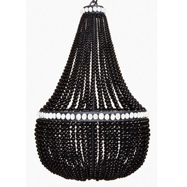 Contemporary Marjorie Skouras Design Black Onyx/White Accents Empire Chandelier For Sale - Image 3 of 5