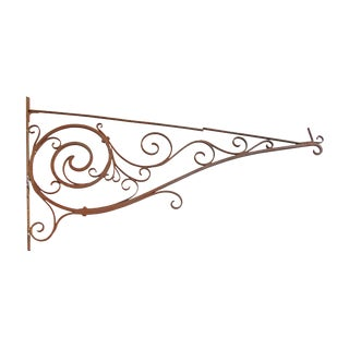 Victorian Wrought Iron Sign Bracket
