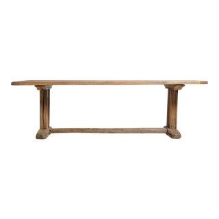 19th Century Swiss Oak Wood Farm Table For Sale