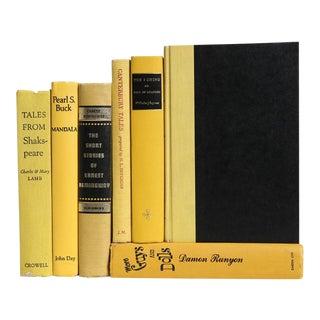 Vintage Mid Century Daffodil Decorative Books - Set of 7