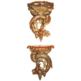18th Century Carved Brackets - a Pair