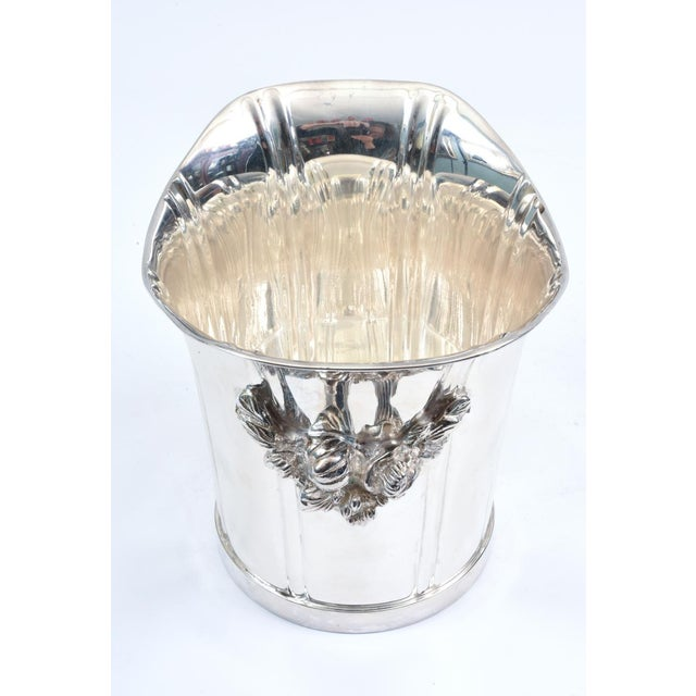 Large English Sheffield Silver Plated Champagne Cooler With Ice Bucket For Sale - Image 11 of 13