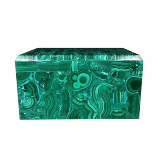 Vintage Large Malachite Box For Sale