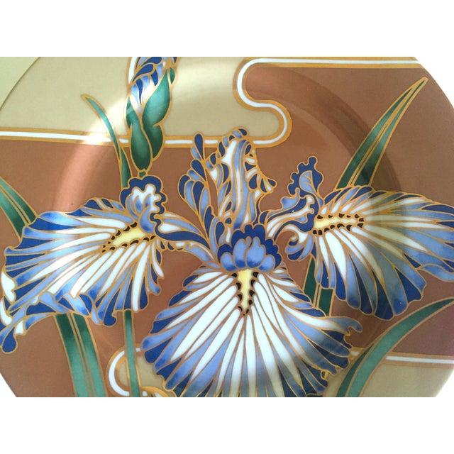 Fitz and Floyd Fitz & Floyd Japan Vintage Contemporary Modernist Floral Porcelain Dessert Plates - Set of 3 For Sale - Image 4 of 11