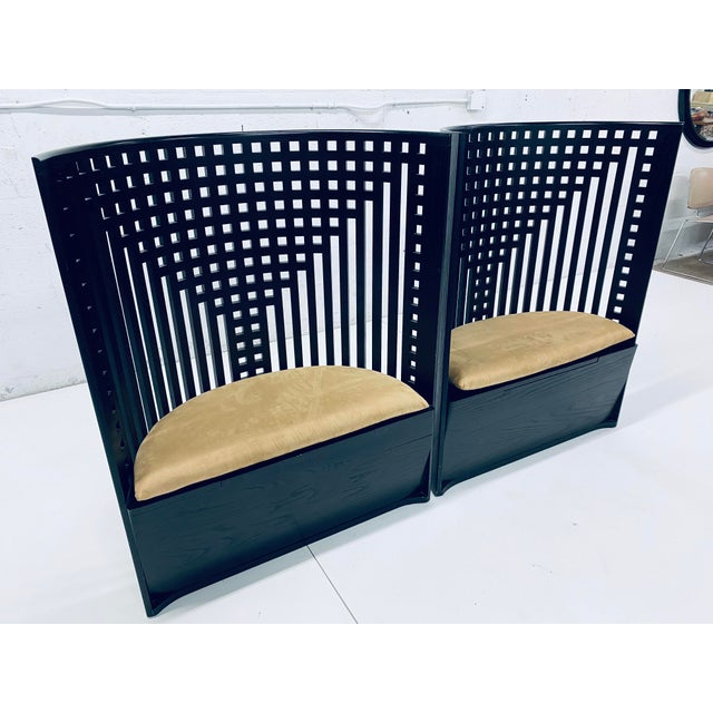 Bauhaus Charles Rennie Mackintosh Willow Chairs - a Pair For Sale - Image 3 of 13
