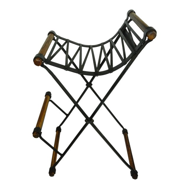 Iron and Oak Bar Stool by Cleo Baldon for Terra - Image 1 of 7