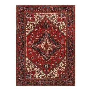 Pasargad Rust Antique Persian Heriz Serapi Rug 6'6'' X 8'11'' For Sale