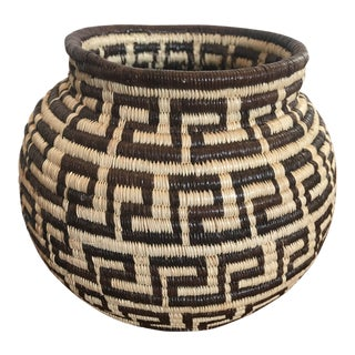 1990s Handwoven Tribal Bowl For Sale