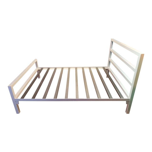 Contemporary White Parsons Full Sized Bedframe For Sale