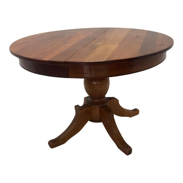 Traditional Round Cherrywood Table - Image 1 of 5