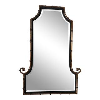 Mid-Century Modern Bamboo Framed Mirror For Sale
