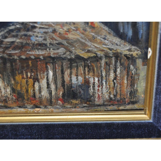 Impressionist European Market Scene Oil Painting - Image 7 of 9