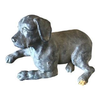 Labrador Dog Austin Statue by Merry Scottland For Sale