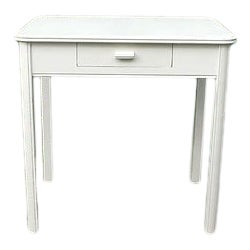 1940s Traditional White Wooden Writing Desk For Sale