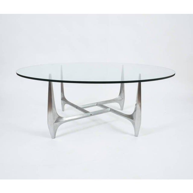 Large Sculptural Aluminium Coffee Table by Knut Hesterberg For Sale - Image 6 of 6