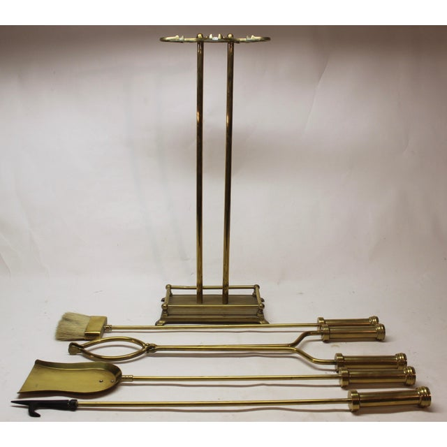 Mid-Century Modern Brass Fire Tools For Sale In New York - Image 6 of 10