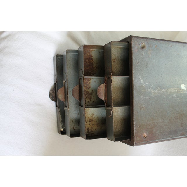 Gray Industrial Metal Storage Desktop Cabinets For Sale - Image 8 of 11