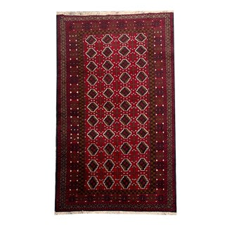 Bokara Style Tribal Hand Knotted Rug- 3′5″ × 6′4″ For Sale