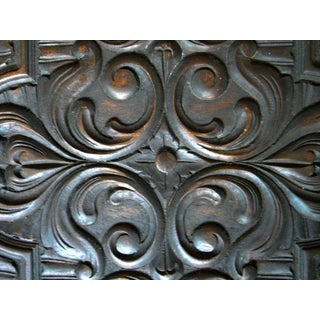 19th Century One Side Carved Wood Panel Heraldic Rose Design Panel Preview