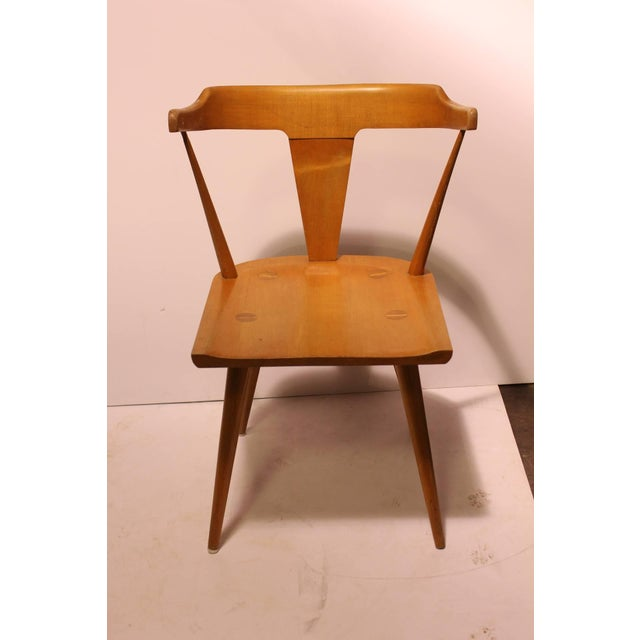 Stylish mid century Paul McCobb Planner group desk/side chair.