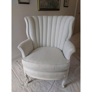 1960's Vintage French Provincial Mint Bergere Chair Preview